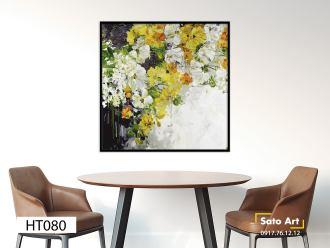 Tranh sơn dầu vẽ hoa đà lạt