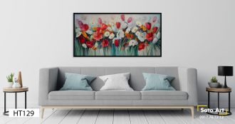 Tranh sơn dầu vườn hoa ở Biên Hòa
