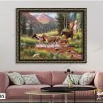 Tranh Những Chú Ngựa Vượt Sông