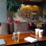 ゆったり寛げる・・・義烏の韓流カフェ