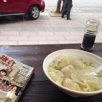 義烏で・・・あっさりスープ&肉汁たっぷりの水餃子!