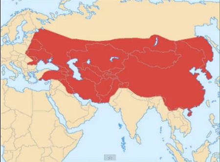 チンギスハーン領土