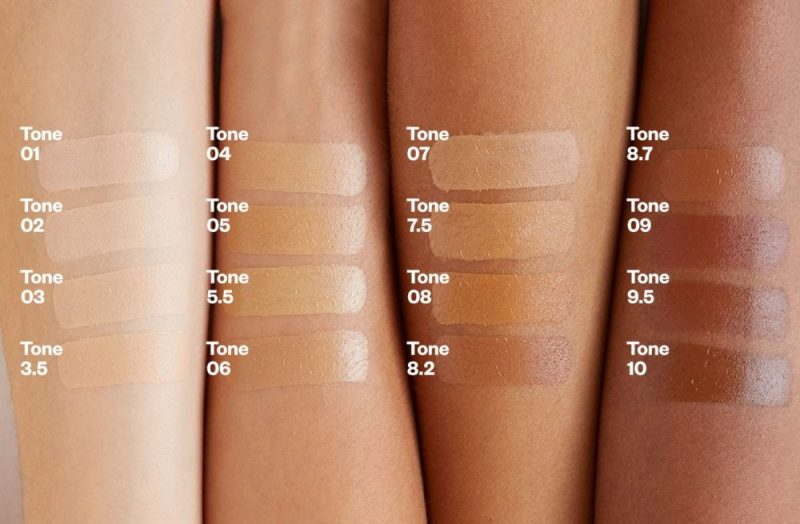 Kosas Tinted Face Oil Swatches