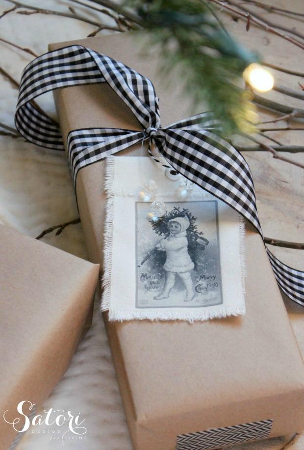 Vintage Christmas Gift Tags Amp More Wrapping Ideas Satori