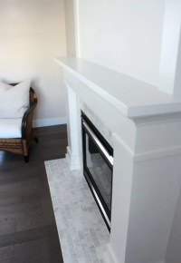 White & Marble Fireplace (The Makeover Details) - Satori ...