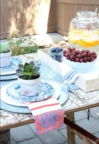 Flea Market Style Outdoor Table Setting - Satori Design ...