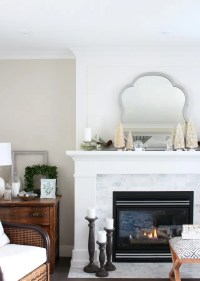 white christmas mantel decorating ideas | www.indiepedia.org