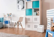 child's bedroom decor with stuffed toys
