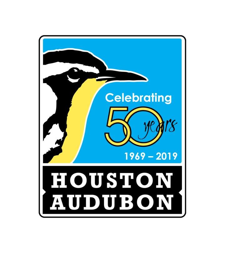 Houston Audubon 50 Years logo