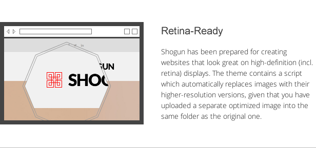 shogun features - retina-ready