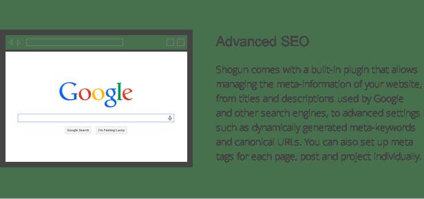 shogun features - advanced seo