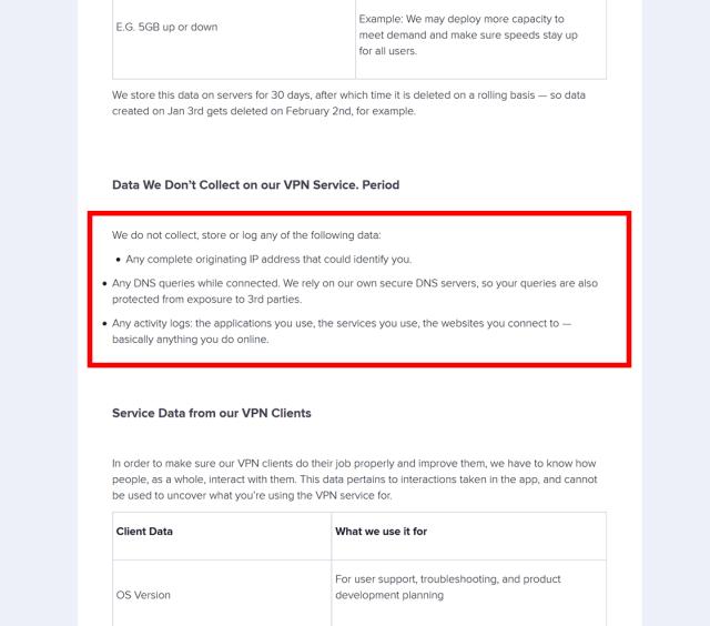 Politique de non-journalisation d'Avast VPN