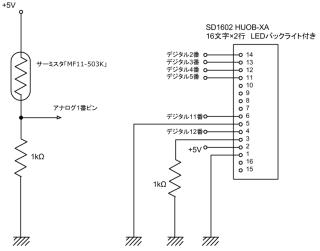 「暑熱をばひとつ」の回路図