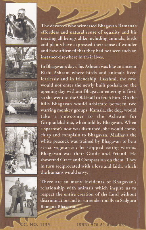 Bhagavan Ramana Friend of All-Back Cover