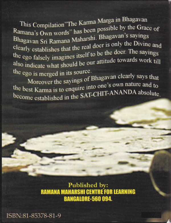 Karma Marga-Back Cover