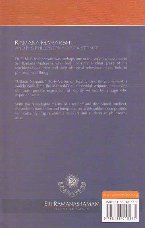 Ramana Maharshi and His Philosophy of Existence-Back