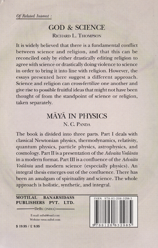 Ramana Maharshi's Philosophy and modern science-Back