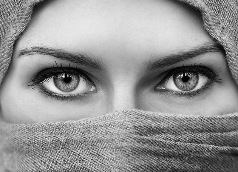 Mata muslimah cantik