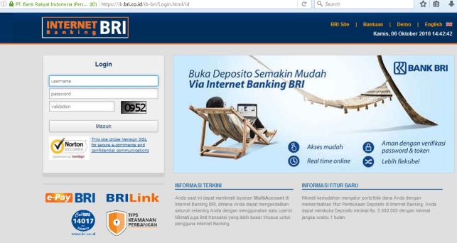 registrasi internet banking bri