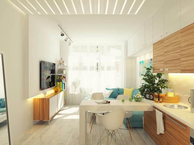 Apartment Kitchen Ideas with Living Room - pinterestcom