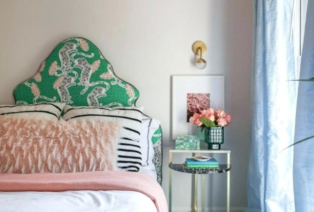 A Small Bed with Eye-catching Headboard - mysocalblogcom