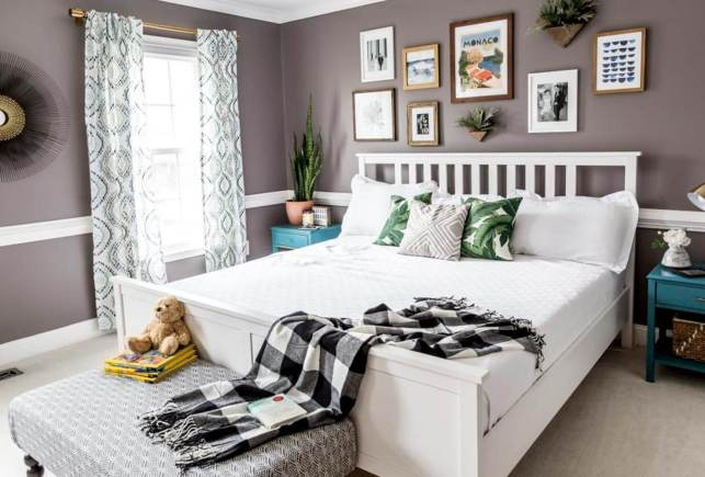 Decorative Bedroom with Eclectic Patterns - shutterflycom