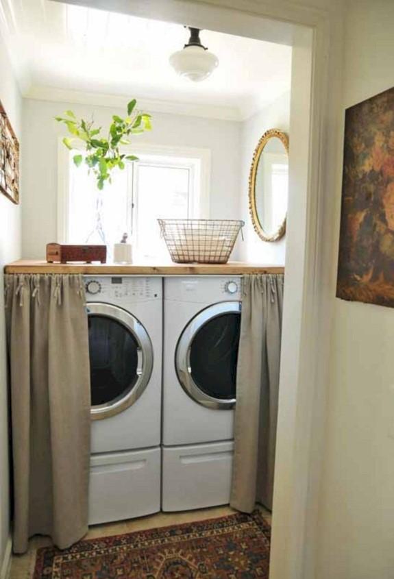 Laundry Room Ideas with Curtain - 24spacescom