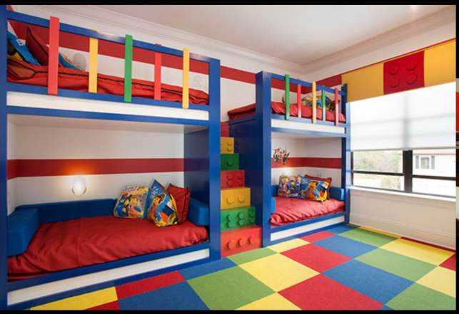 Lego Bunk Bed for Kids Ideas Full of Colors - pinterestcom