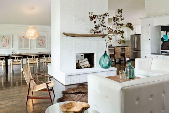 Painted Brick Fireplace Room Ideas - squarespacecom