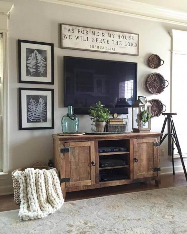 Perfect Entertainment Center for Rustic Living Room Ideas - homebnccom