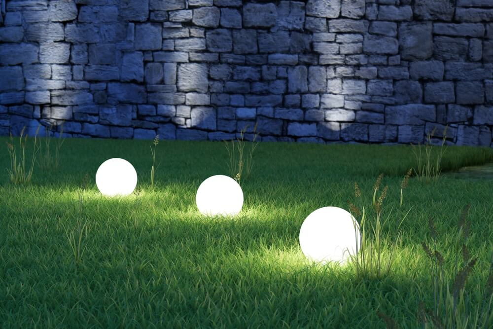 backyard lighting string