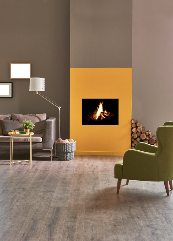 electric fireplace room divider