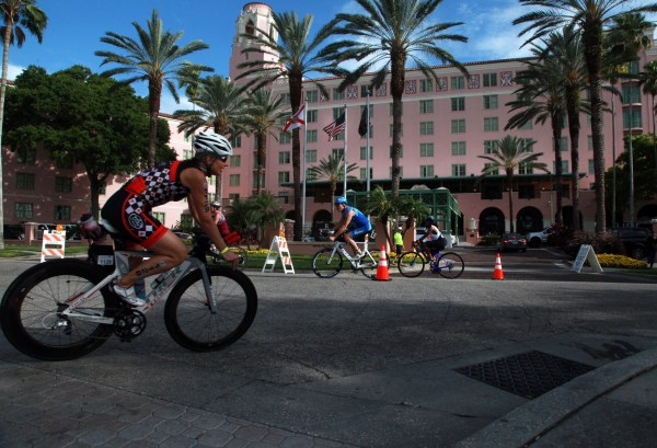 St. Petersburg, Fl.  4.30.2017. Passing the Vinoy. World Champions, Olympians, and a well-rounded roster of professional athletes from across the world comprise the field for the 34th Annual St. AnthonyÕs Triathlon that returns to St. Petersburg on Sunday, April 30th 2017.