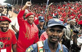 """""""We can't have a president who is a Blesser""""  Julius Malema"""
