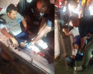 driver stabbed by robot beggar