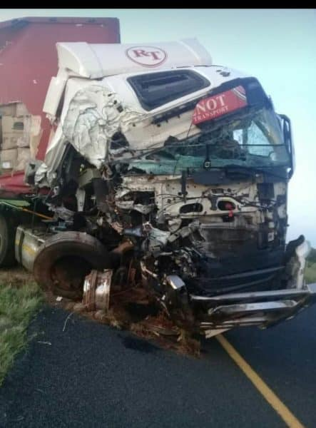 N1 crash between bloemfontein and edernburg