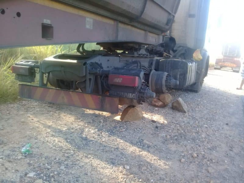 transmac driver robbed tyres stolen