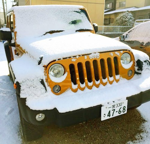 JEEP Wrangler Unlimited Sport雪化粧