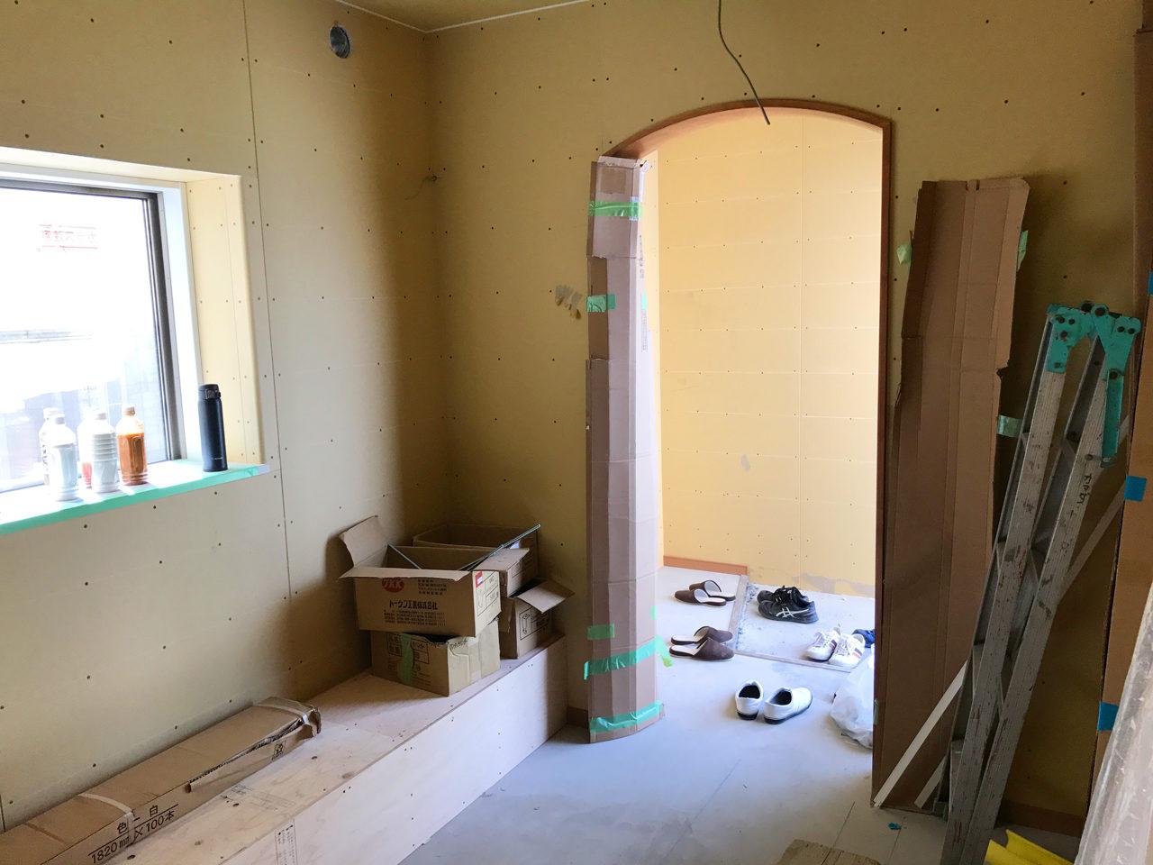 店舗(鍼灸接骨院)付き住宅の待合室とバリアフリー玄関