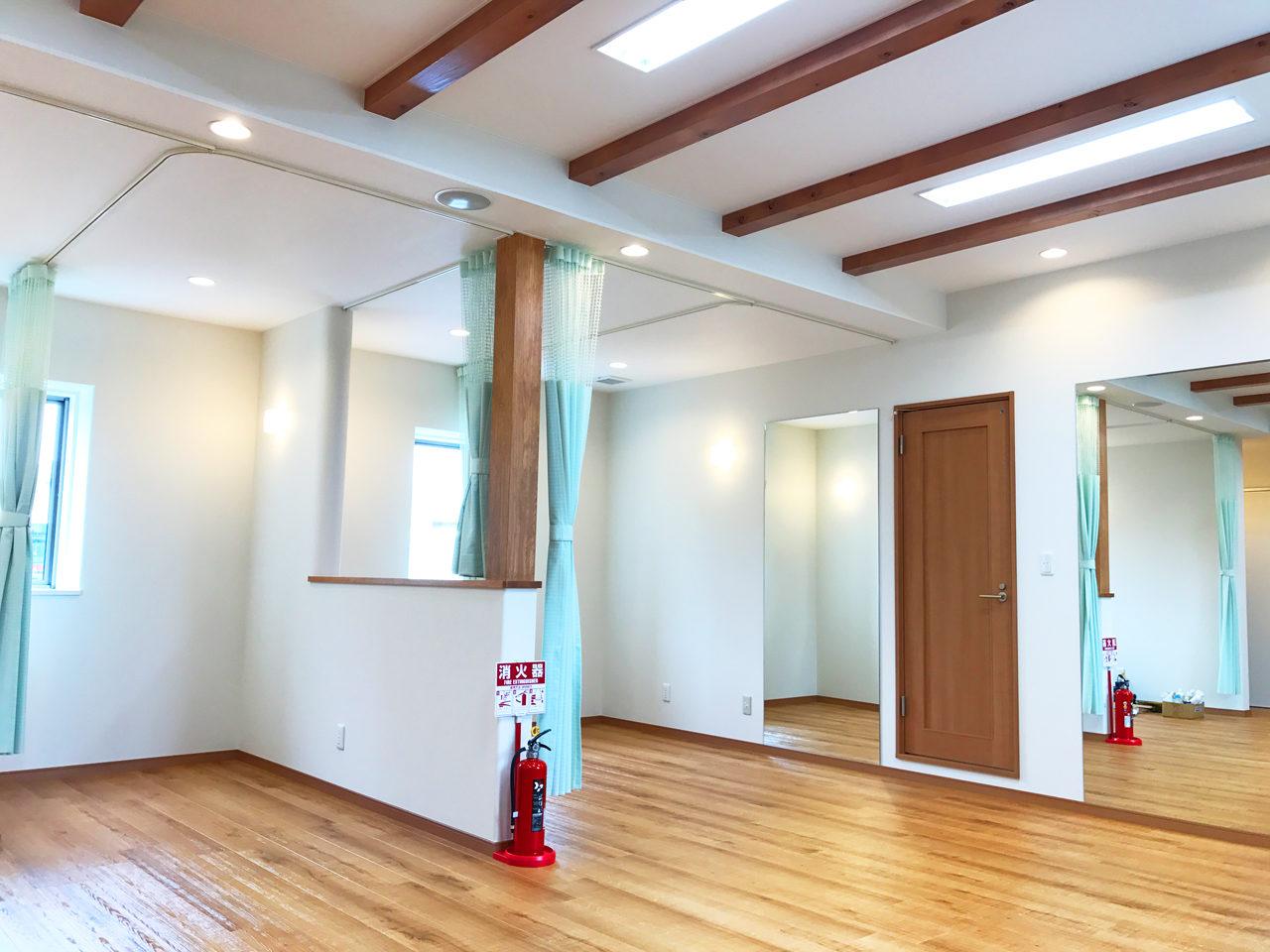 店舗(鍼灸接骨院)付き住宅の接骨院施術室