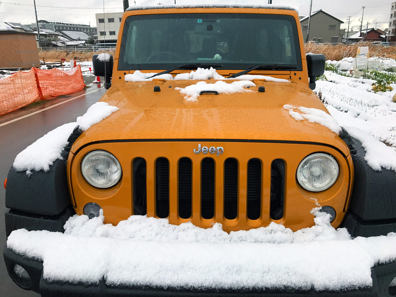 Jeep Wrangler Unlimited Sportもすっかり雪化粧