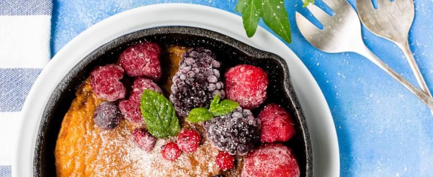 Vegane Pfannkuchen mit Beeren, Pancakes