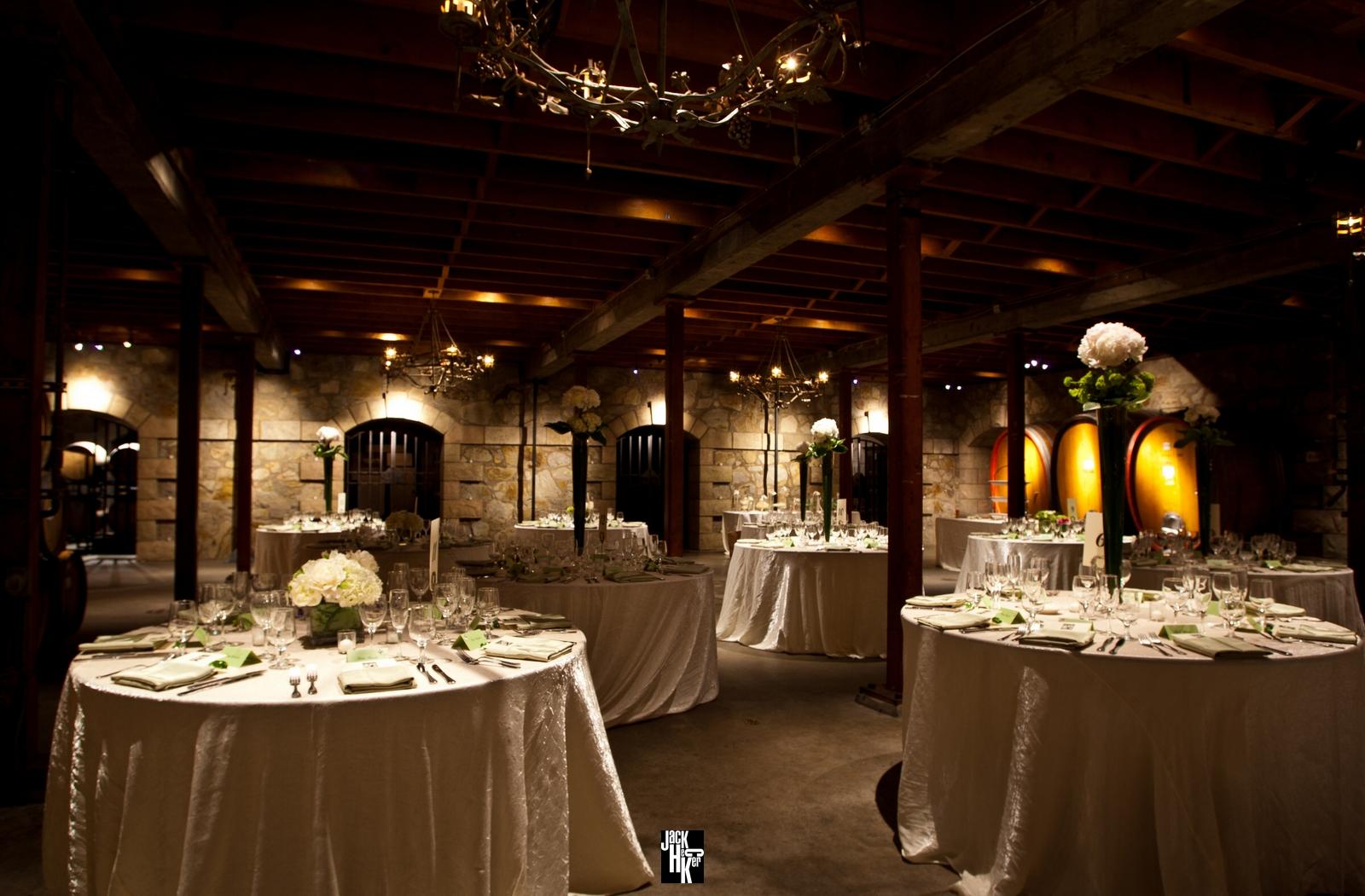 Sattui Barrel Room V Sattui Winery Weddings