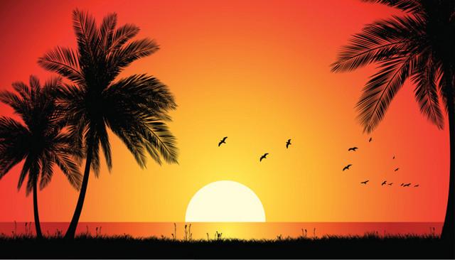 Gambar Lukisan Matahari Terbit  Koleksi Gambar HD