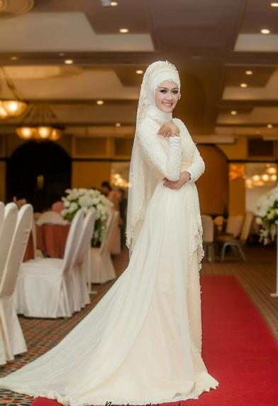 6 Model Gaun Pengantin Muslimah Modern Terbaik Saat Ini