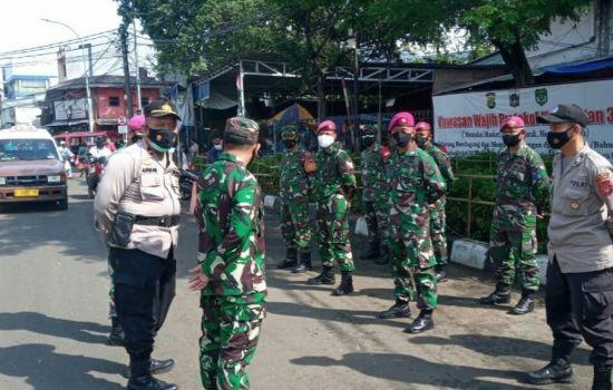 PPKM Mikro, Tiga Pilar Pasar Minggu Gelar Operasi Tertib Masker