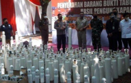 Tabung Oksigen Hasil Tindak Pidana Diserahkan Untuk Kepentingan Kemanusiaan