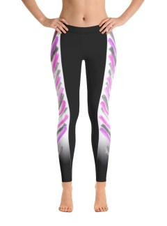 Warrior Stripes – Pink and Grey – Isolation