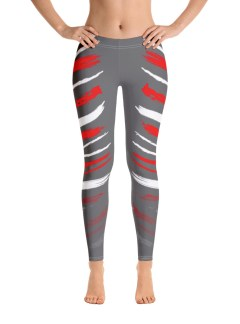 Warrior Stripes – Red and White Over Grey