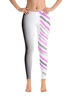 Warrior Stripes – Pink and Grey